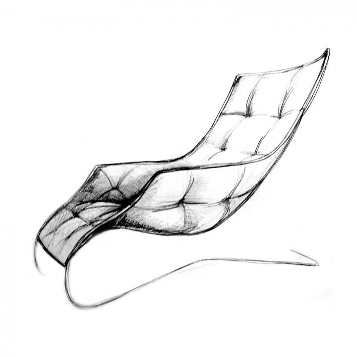 Lounge Chair By Maserati And Zanotta Design Sketch