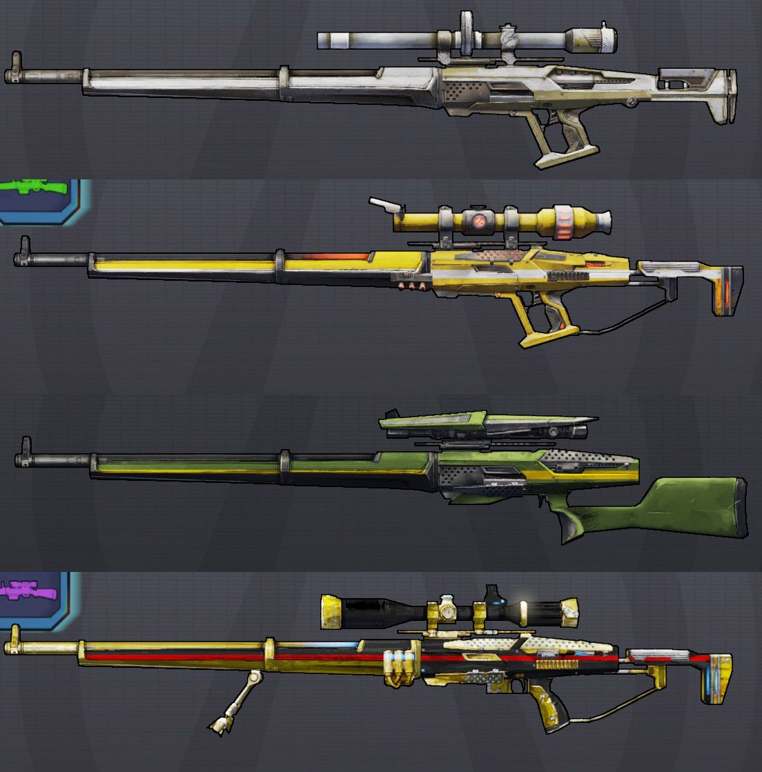 snipers | FMP weapons | Pinterest | Borderlands, Weapons and Rarity