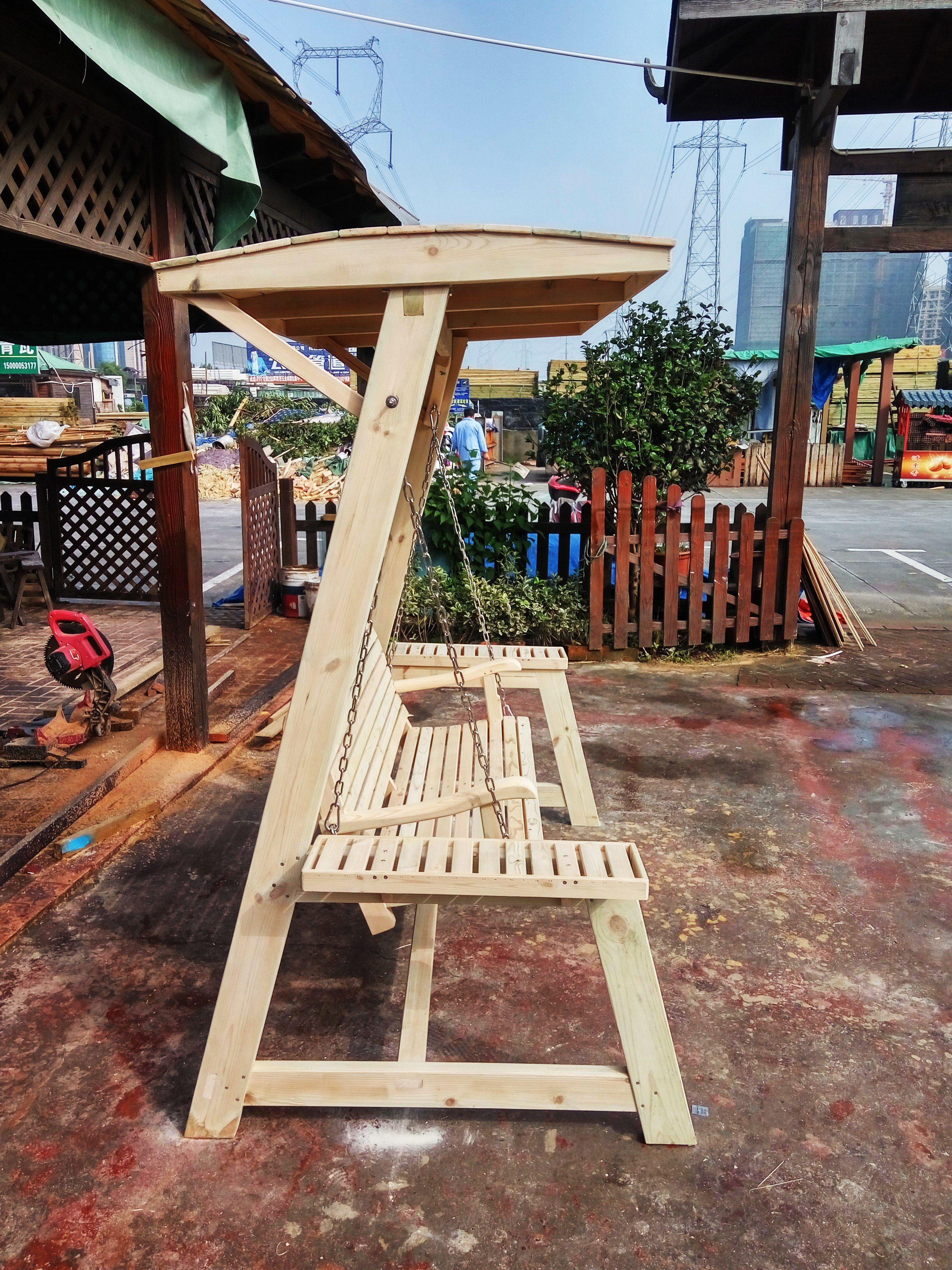 Personnalisés haut de gamme extérieure bois swing swing ...