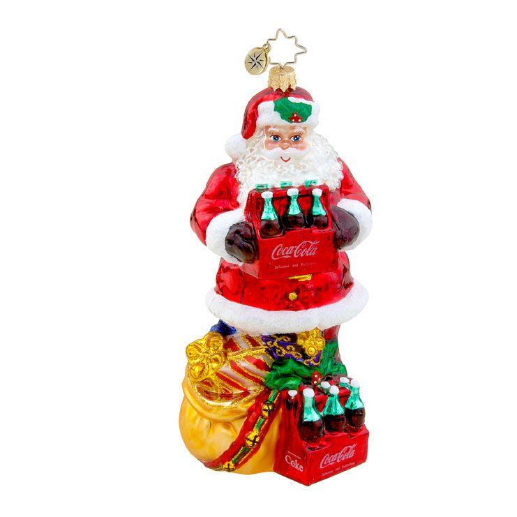 Christopher Radko Coca Cola Christmas Ornament The Perfect Gift - Christopher Radko The Perfect Gift Coca-Cola Christmas Ornament