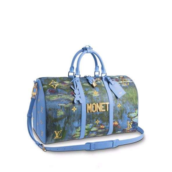 7c736f73425d Louis Vuitton Keepall Monet Masters Jeff Koons 50 Periwinkle Multicolor