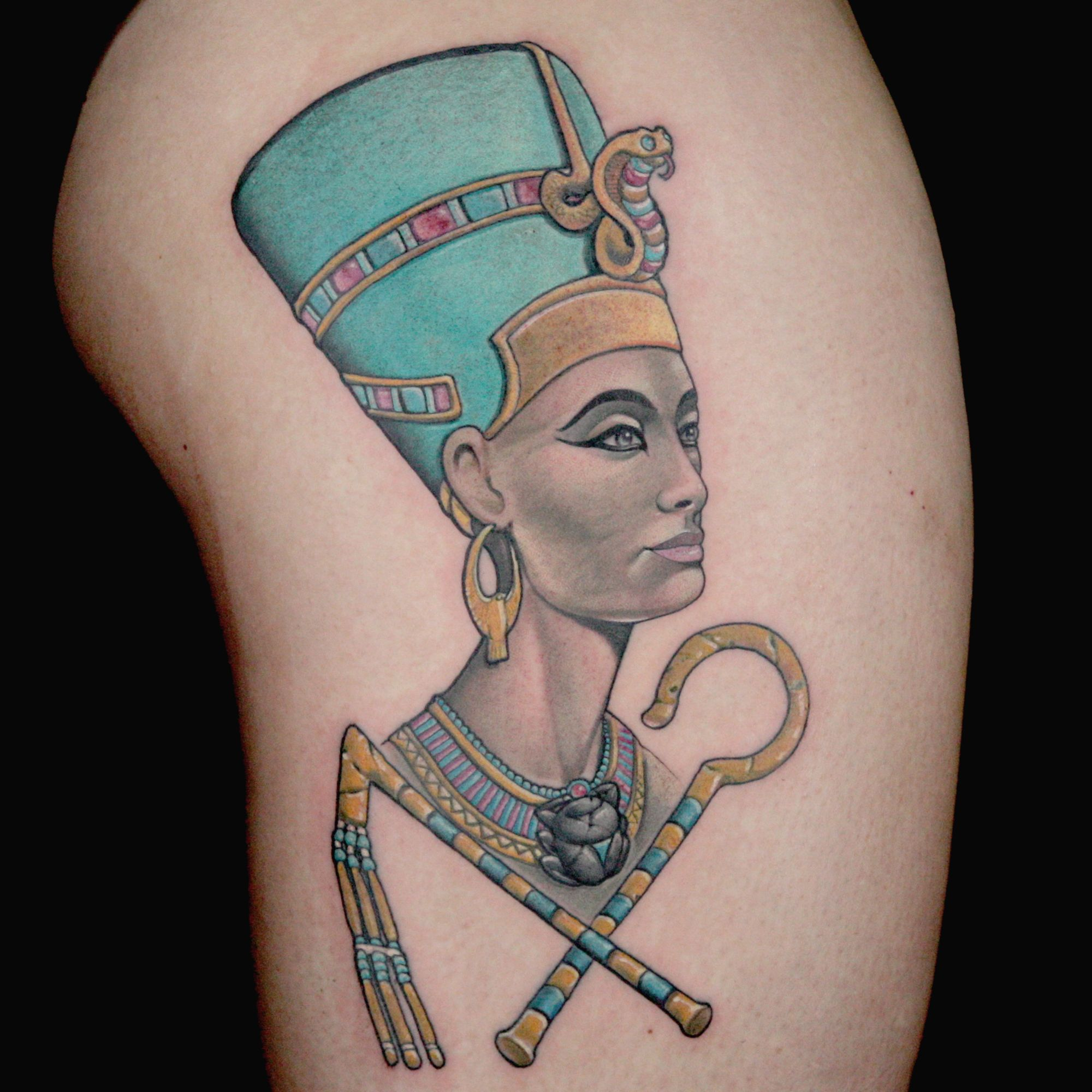 Queen Nefertiti Tattoo: Check Out This High Res Photo Of Craig Foster's Tattoo