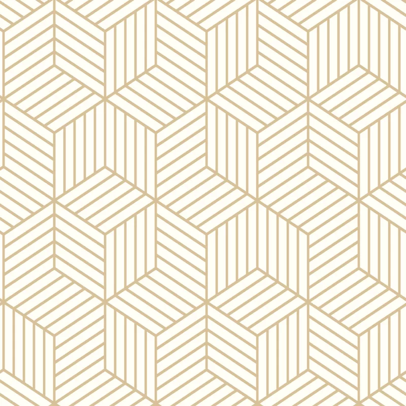 Rumsey Striped Hexagon 16 5 L X 20 5 W Geometric Peel And Stick Wallpaper Roll Allmode In 2020 Peel And Stick Wallpaper White And Gold Wallpaper Embossed Wallpaper
