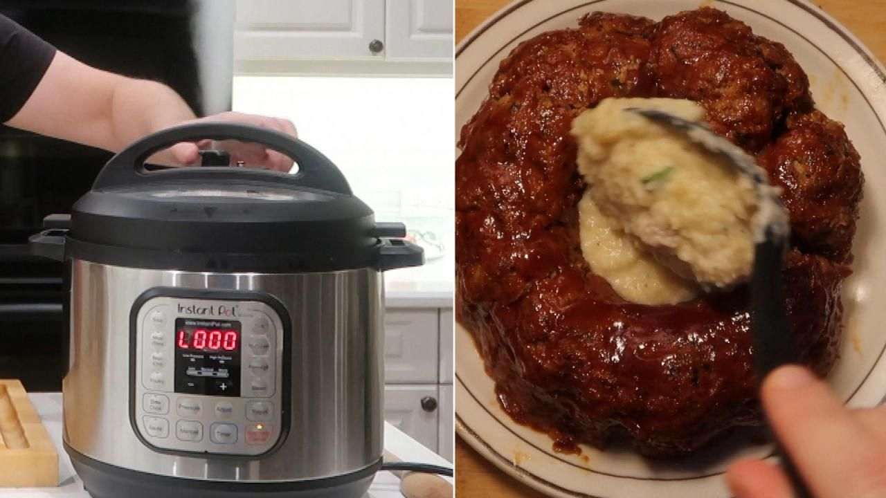 Comfort Food Made Easy Check Out This Hack For Making Meatloaf In A Bundt Pan Then Pressure Cooking It With Instant Pot Recipes Instant Pot Beef Pot Recipes