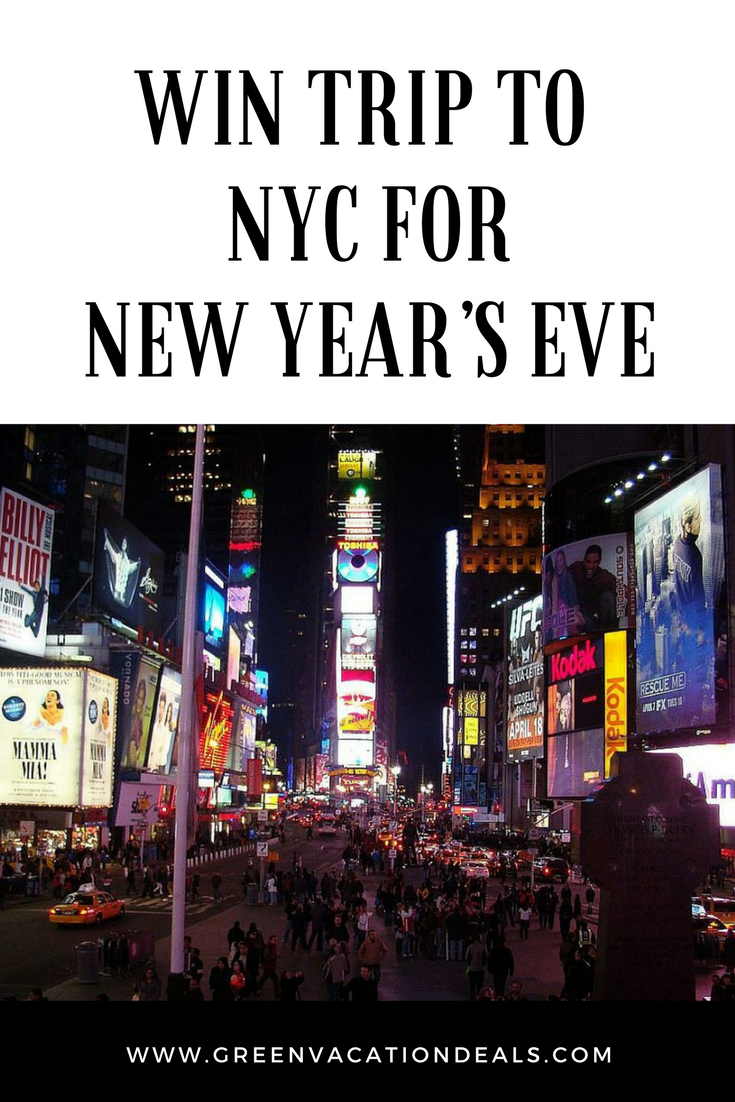 Win Trip To New York City for New Year's Eve Green
