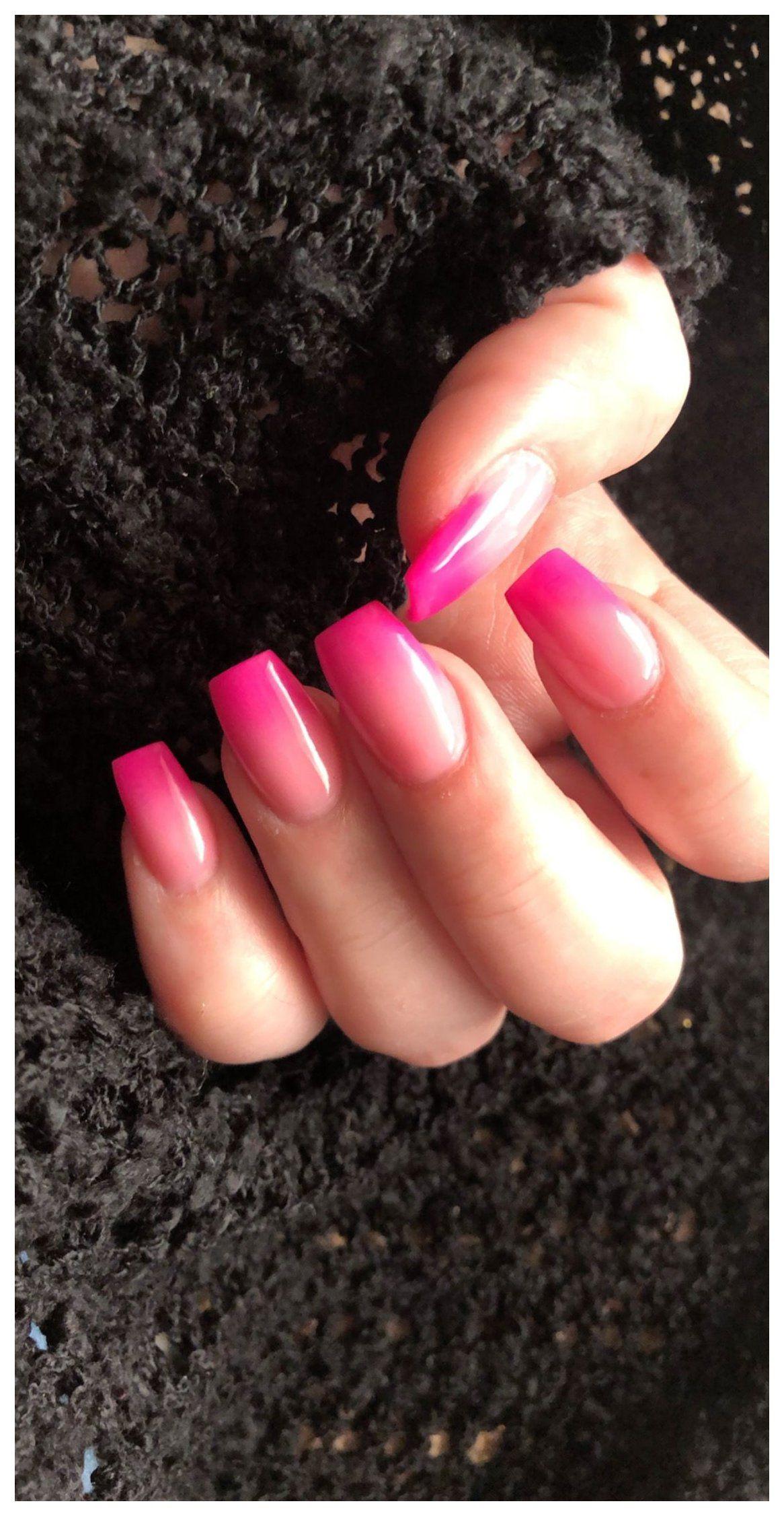 Love My New Nails Short Acrylic Hot Pink And Gold Pink Acrylic Nails Short Acrylic Nails Designs Acrylic Nail Designs