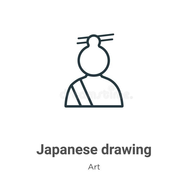 Japanese Drawing Outline Vector Icon Thin Line Black Japanese Drawing Icon Flat Vector Simple Element Illustration Fr Japanese Drawings Drawings Vector Icons