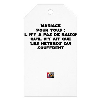 Marriage For All There Is No Reason Only It Gift Tags