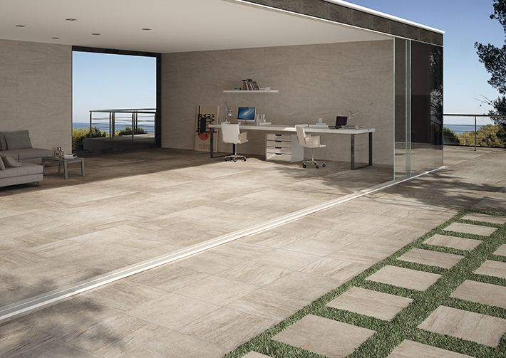Materia beige 20mm outdoor tile outdoor 20mm by - Terrasse en cailloux ...