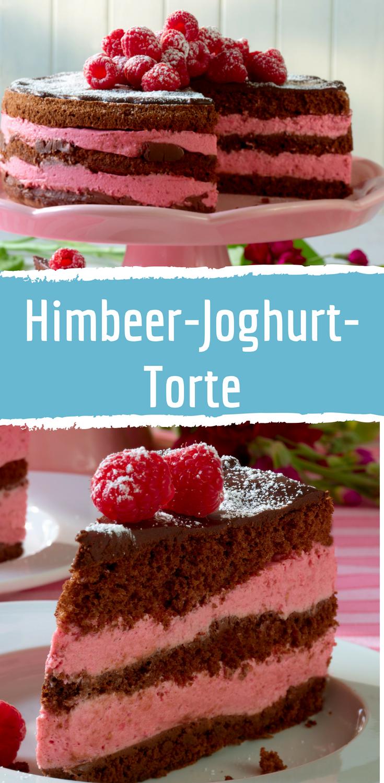 Fruchtige Himbeer Joghurt Schoko Torte Himbeer Joghurt Torte Joghurttorte Schoko Himbeer Torte