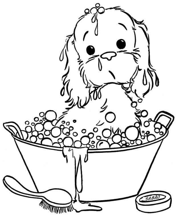 free printable puppy picture to color 086