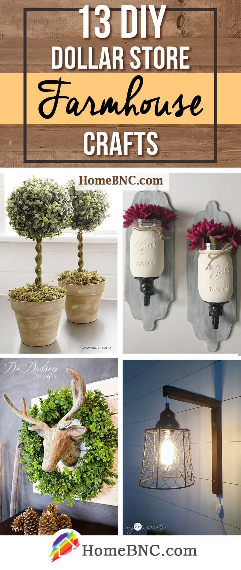 DIY Dollar Store Farmhouse Decor Ideas Dollar Tree Ideas