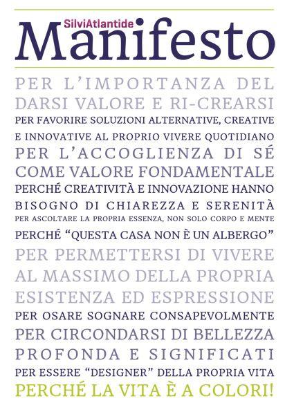SilviAtlantide Manifesto