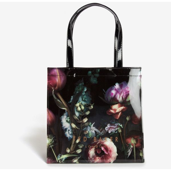Ted Baker Small Shadow Floral Shopper Bag (165 AED) ❤ liked on Polyvore  featuring bags 6714d18347ca7