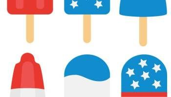 4th of July Popsicle Cut Files + Clip Art - Freebie Friday