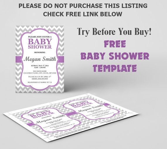 FREE Baby Shower Invitation Template DIY Editable Template FREE - Free baby shower invitations templates for word
