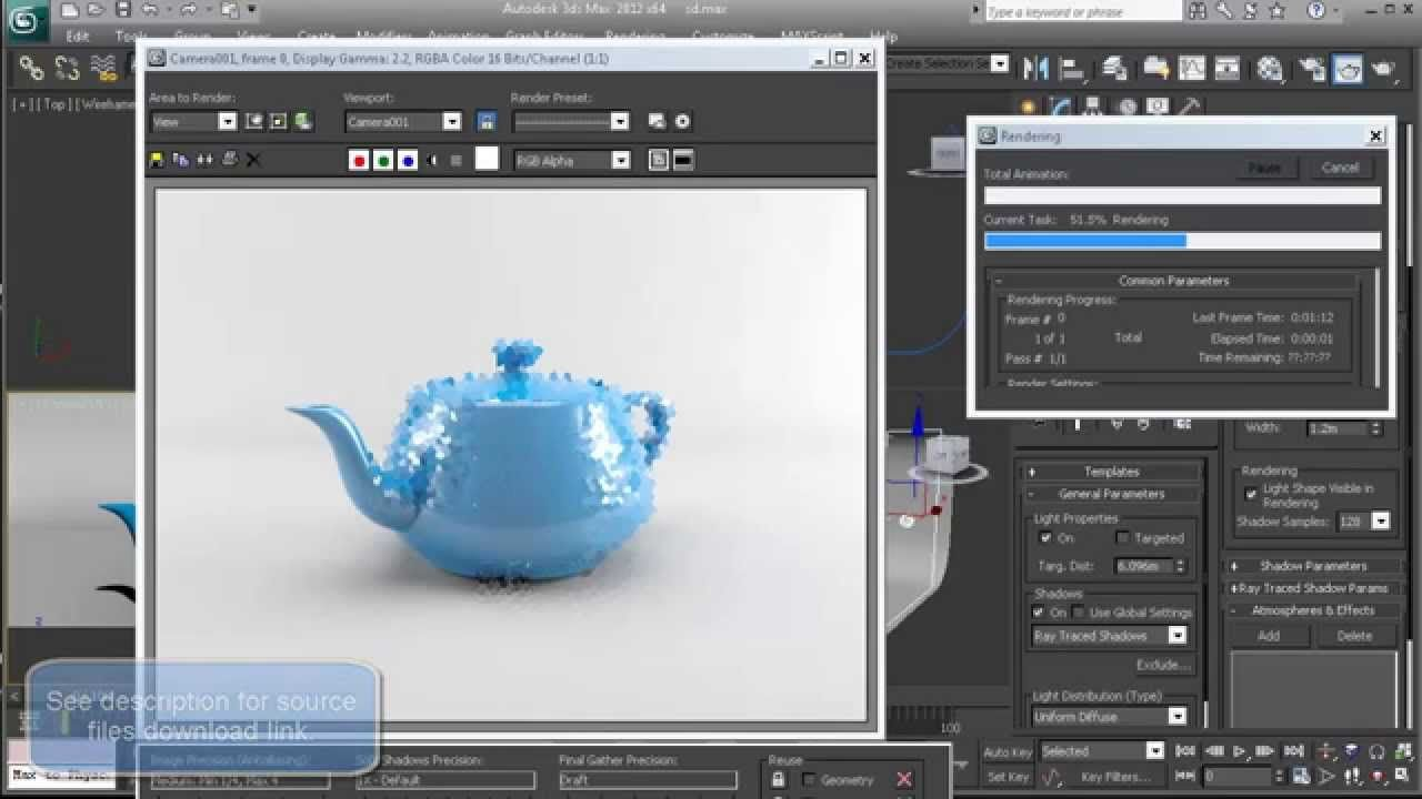 3ds max studio lighting mental ray tutorial source files for 3d max tutorial