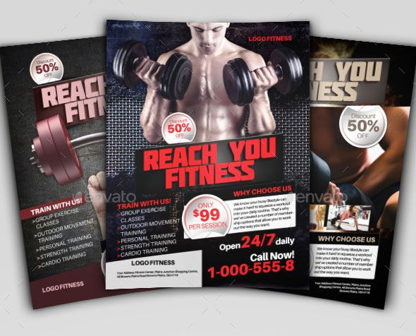 This is the perfect fitness pamphlet design that also can be used - fitness flyer