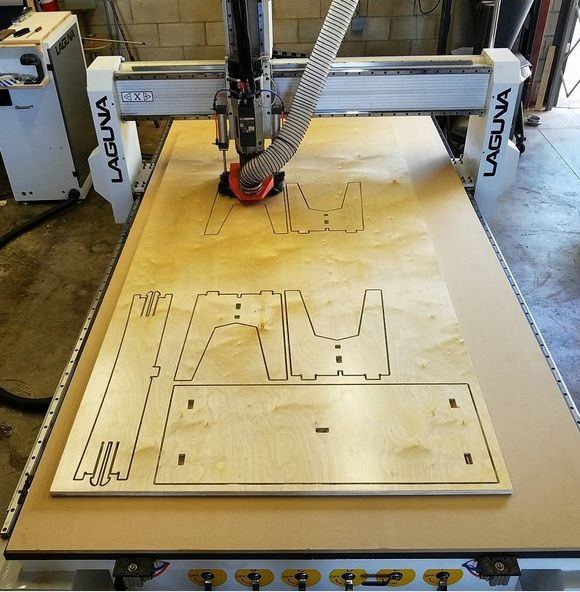 Dson Woodhi Furniture Making With Their Laguna Cnc Router