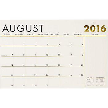 Paper Source Foil Blotter Calendar Organize - Desk blotter calendar