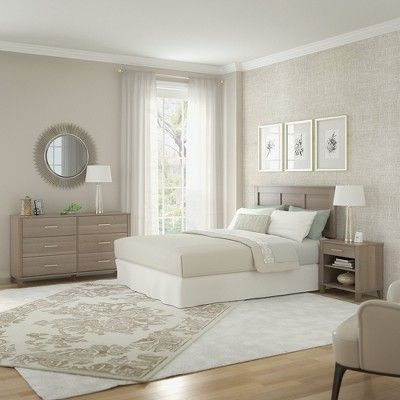 Best Queen Full Somerset Headboard In Ash Gray Bush Furniture 400 x 300