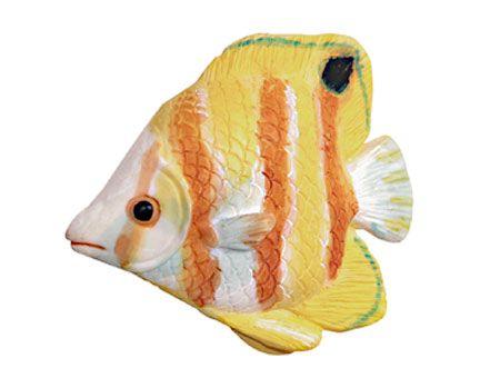 BSKF - Puxador 26109 Peixe Amarelo com Branco