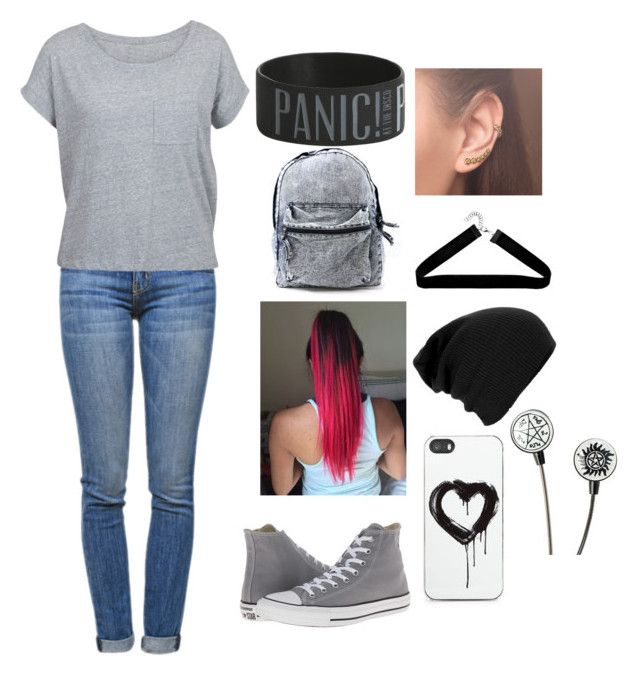 """""""Aria"""" by onnajanell ❤ liked on Polyvore featuring Current/Elliott, Converse, Annoushka and Zero Gravity"""