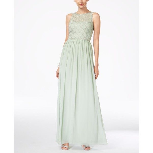 Adrianna Papell Beaded A-Line Gown ($199) ❤ liked on Polyvore ...