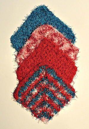 Beautiful Chevron Crochet Kitchen Towel Ombre Yarn Granny Squares