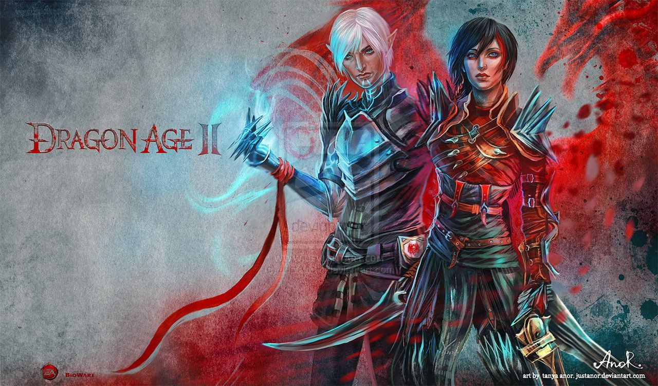 Dragon Age Ii Fenris Hawke By Justanor Deviantart Com On