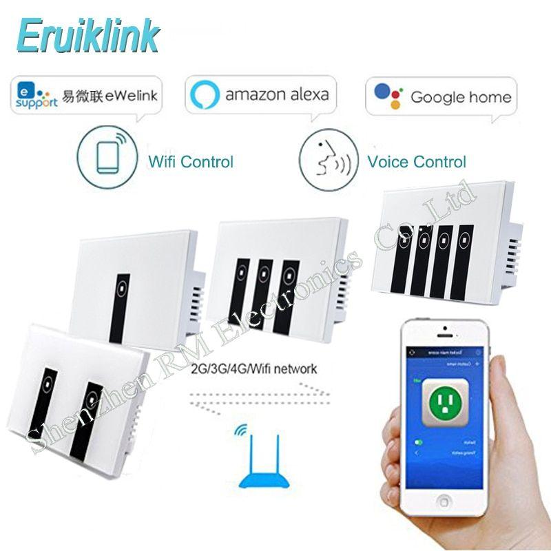 Ewelink US Standard 1 2 3 gang wall light app switch,touch control