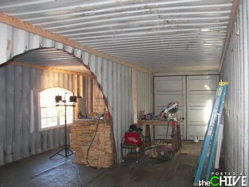 Redneck Shipping Container House Comes Complete With Solar Panels U0026 Camo  Decor Redneck Shipping Container House U2013 Inhabitat   Sustainable Design  Innovation, ...