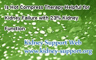 Is Hot Compress Therapy helpful for kidney failure with 23% kidney function  ? In fact, Hot Compress Therapy(also known as Micro-Chinese Medicine ...