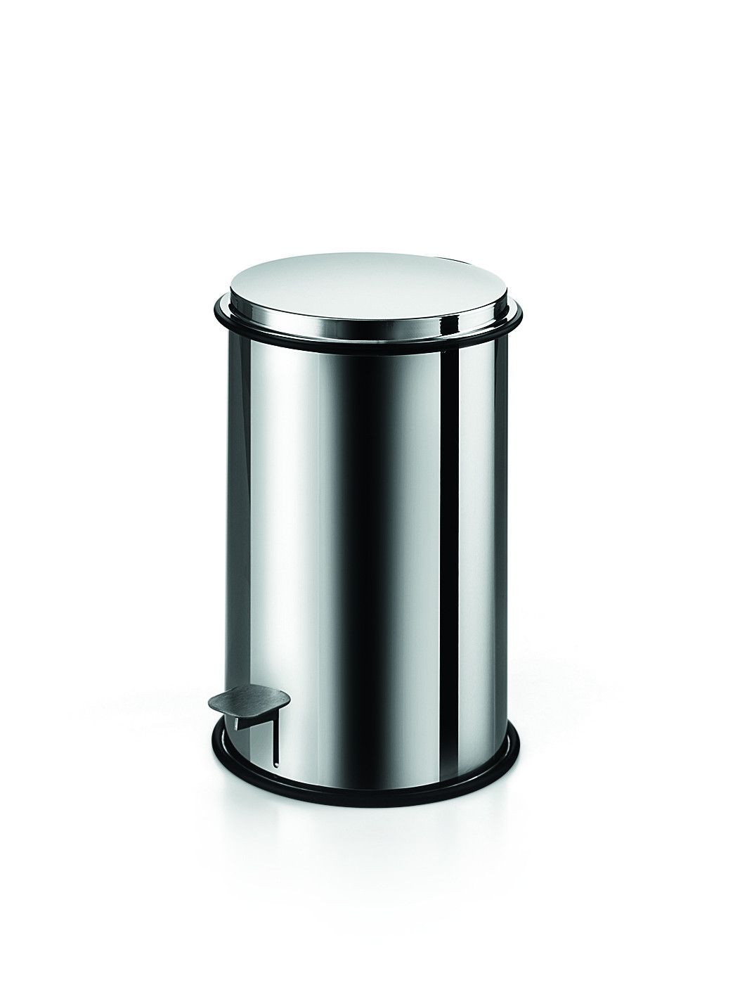 Abfalleimer Bad Chrom Lb Round Step Trash Can Stainless Steel Wastebasket W Lid