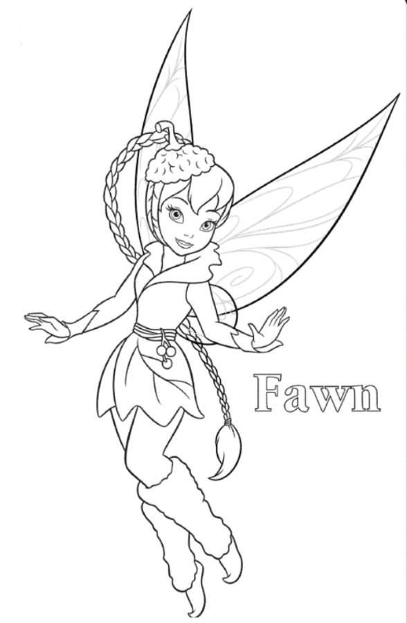 Fawn tinkerbell coloring page colouring pinterest for Fawn fairy coloring pages