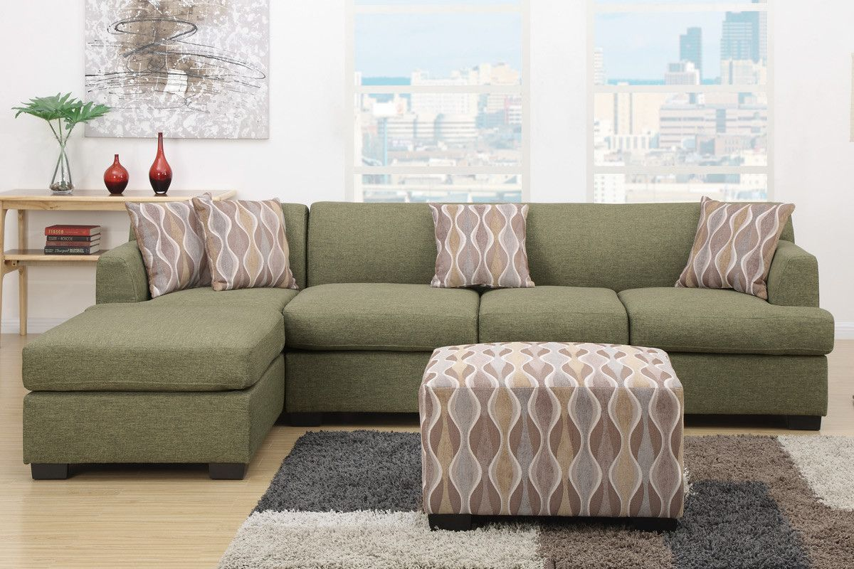 Poundex Bobkona Sectional Sofa With Reversible Chaise F7978+F7976 Versatility comes to mind with this : poundex bobkona sectional - Sectionals, Sofas & Couches