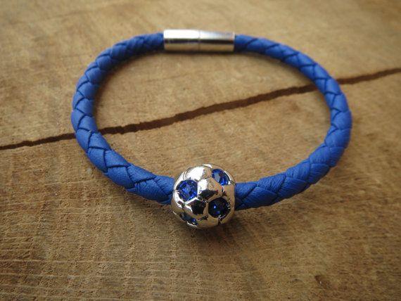 Free Shipping Men Bracelet Mens Bracelet by BohemianChicbead $21.39 #footballclub #footballfan