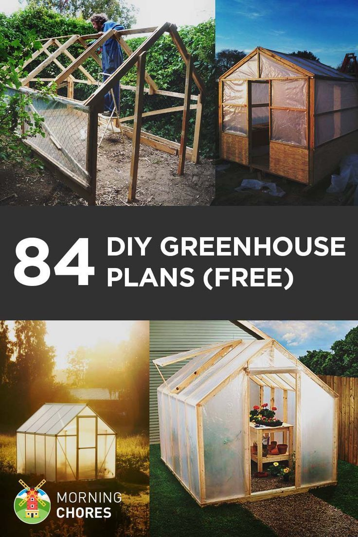 Block Knee Walls With Greenhouse Plans Designs on