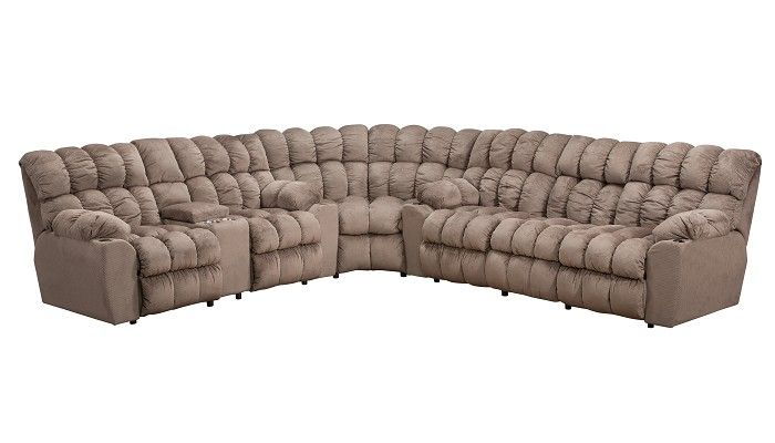 Slumberland Furniture Lincoln Collection Cocoa Sectional
