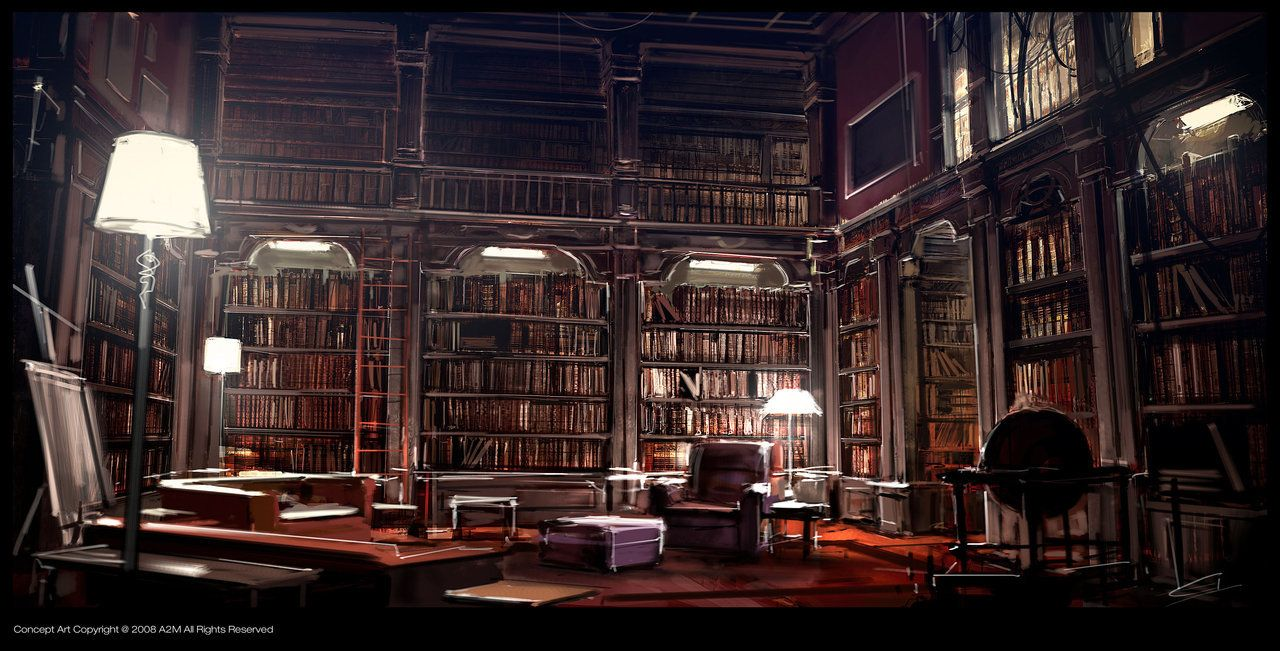 Dark Mansoin Library Kafka_Library by Gryphart on