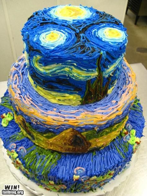 starry night cake, awesome!