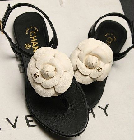 393a9605f42 chanel sandals with flower - Google Search