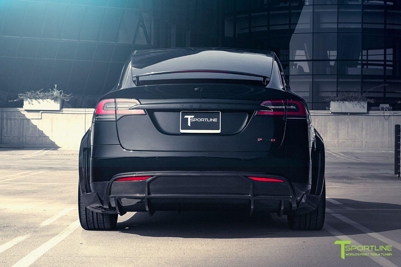 Black Tesla Model X P100d T Largo Limited Edition Carbon Fiber Wide Body Package By T Sportline Tesla Model X Tesla Tesla Suv