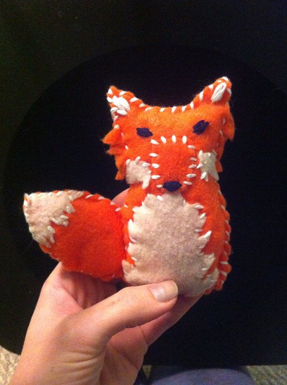 Handmade plush stuffed fox Christmas tree ornament  on Etsy, $22.00