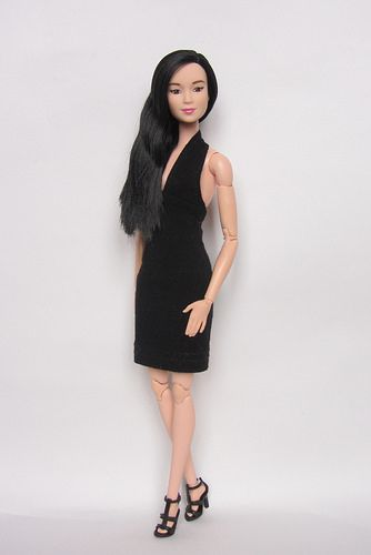 Purple Top Barbie Made to Move Doll