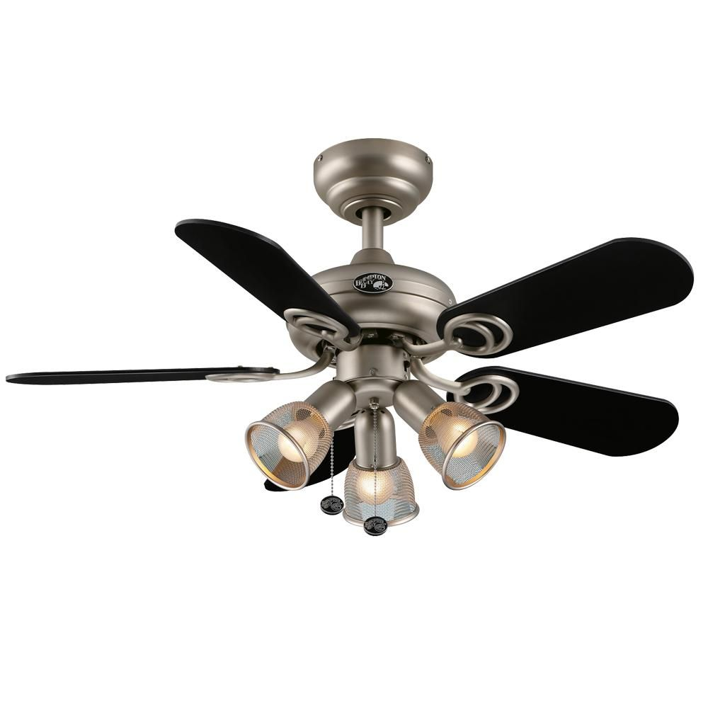 Hampton bay san marino 36 in brushed steel ceiling fan 68353 the brushed steel ceiling fan 68353 the home depot aloadofball