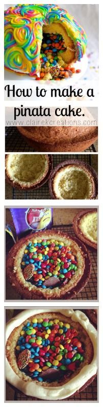 Photo of Lime & Macadamia rainbow pinata cake – with a surprise inside –  How to make a p…