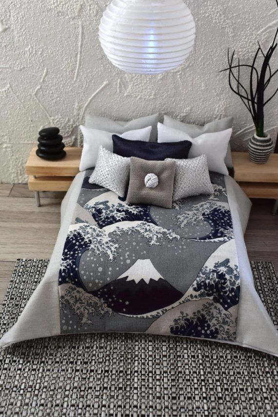 Dolls House Bedding Set 1//12 Handmade-Bed-Double size-Group 8 //ALL New 9//7//2019
