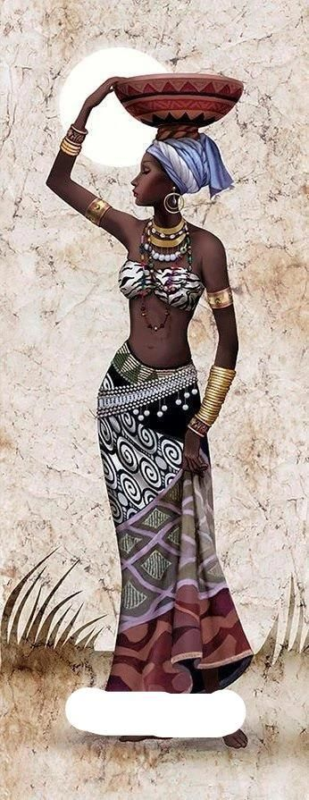 Photo of DIY Diamond Painting Cross Stitch 5D Diamond Embroidery African women Full Diamond Mosaic