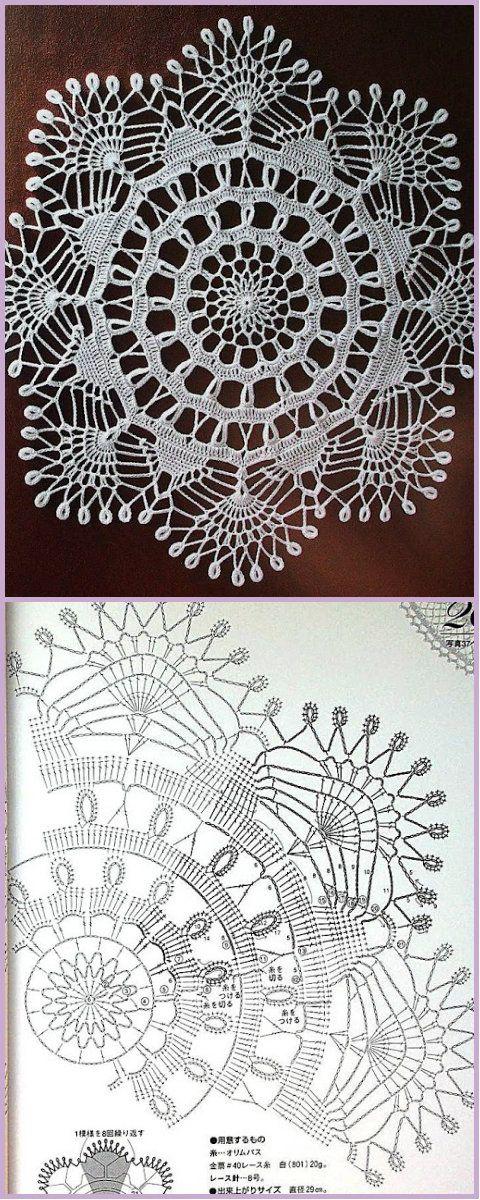 Pin de Kasztanek en Crochet | Pinterest | Tapetes de crochet ...
